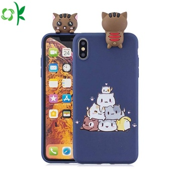 Eco-friendly Printed Logo Silicone Phone Case for Iphone
