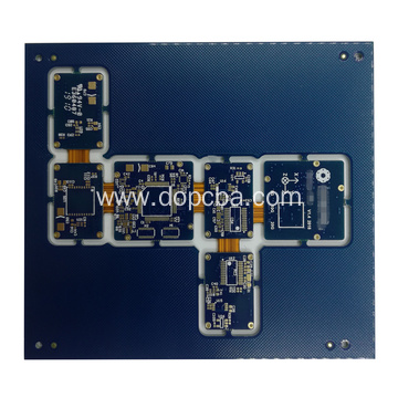 Multilayer Blue Solder Mask Rigid-Flex PCB Board