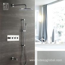 Popular Design for Thermostatic Shower Faucet HIDEEP Modern Bathroom shower faucet set export to Armenia Exporter