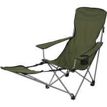 Outdoor Powder-coated steel Escape Chair with Removable Footrest