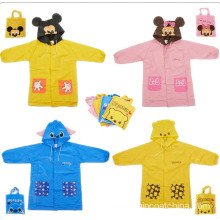 Short Lead Time for Kids PVC Raincoat Waterproof Kids Long Sleeves Rain Coat export to Dominica Importers