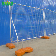 Used chain link temporary construction fence for safety with feet