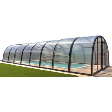 Flat Fixed Diy Low Lean To Pool Enclosure