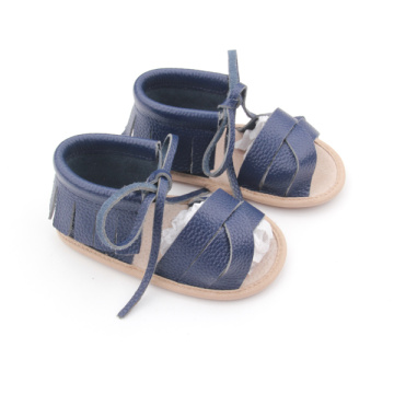 Soft Rubber Leather Moccasins Baby Sandals Wholesales