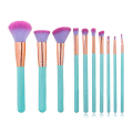 Professional Blue Makeup Brush Set 10 Pcs