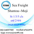 Shantou Port Sea Freight Shipping To Moji