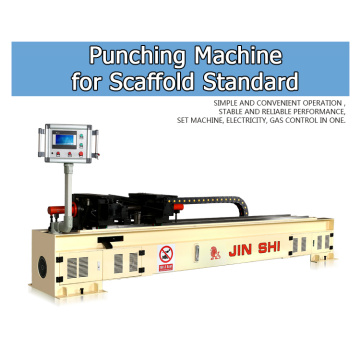 Fast production scaffolding punching machine
