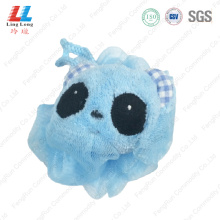 Panda style animal bath sponge ball