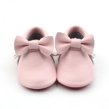New Fashion Design for Baby Leather Boots Leather Pink Baby Moccasins Baby Boots export to Netherlands Factory