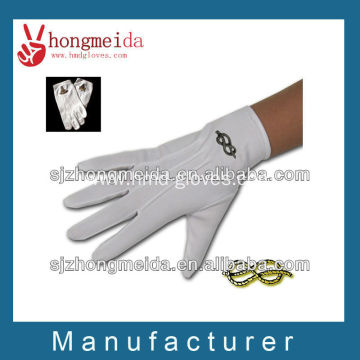 white masonic cotton glove embroider glove