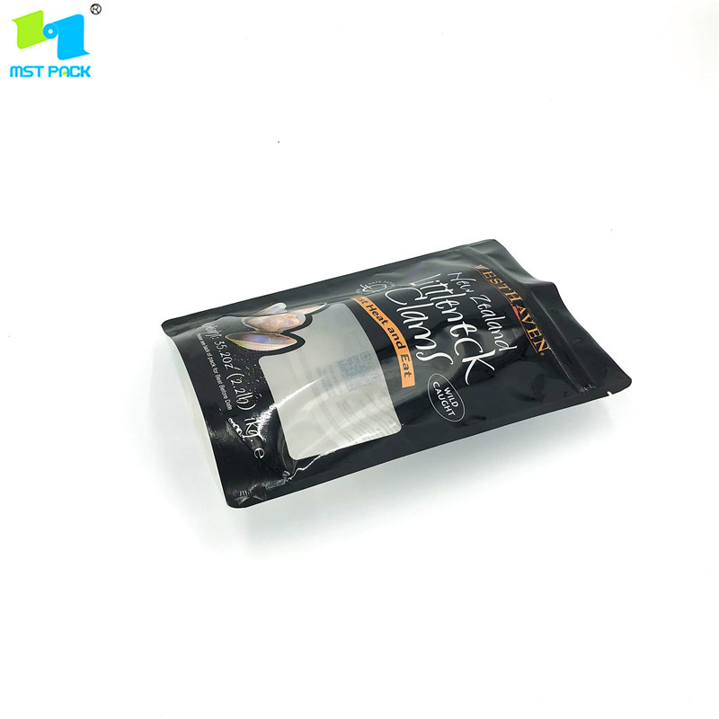 Clear Window Stand up Pouch Plastic Zipper Pouch