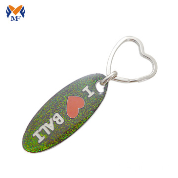 Metal glitter keyring design for girlfriend online