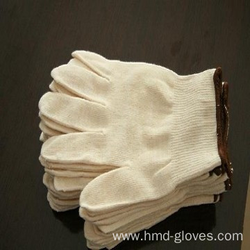 cotton string knitted gloves/cotton working gloves