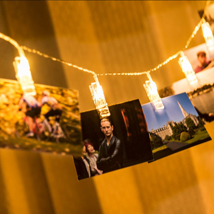 photo clips string lights warm white