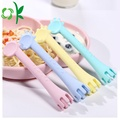 Soft Silicone Cute Deer-shaped Baby Fork Spoon