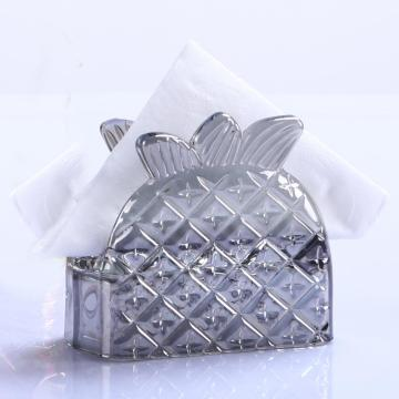 Gray Pipeapple Shape Glass Napkin Holder