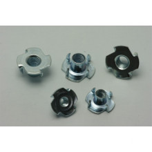 White Zinc plated Stainless steel round t-nut