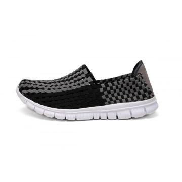 100% Original Factory for Mens Handmade Woven Microfiber Shoes Breathable Comfortable Lightweight Woven Hollow Work Shoes export to India Factory
