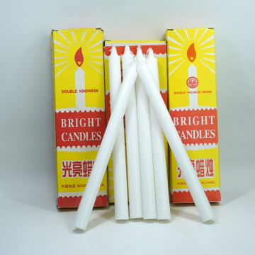 white stick paraffin wax candle for dinner decoration