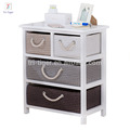 White design modern wooden night stand with storage drawer