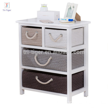 China for Wooden Cabinet,Wooden Storage Cabinet,Corner Wooden Cabinet Manufacturer in China Bedside Wood Accent Table Drawers shabby wooden night stands export to Cote D'Ivoire Wholesale