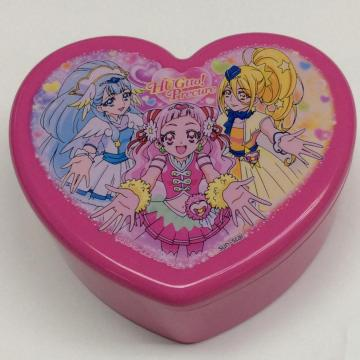 Plastic heart shaped gift box with mirror