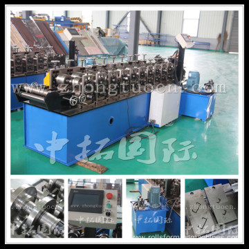 Drywall partition stud and track making machine