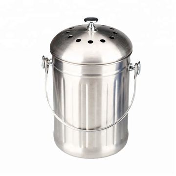 Compost Bin 1.0 Gallon Stainless Steel Kitchen Composter