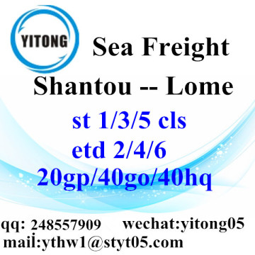 Shantou Sea Freight Shipping Services to Lome