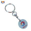 Metal custom shopping trolly cart coin keychain