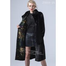 Leading for China Women Mink Fur Coat,Mink Wind Coat,Black Mink Fur Coat Supplier Reversible Women Kopenhagen Mink Wind Coat export to Poland Manufacturer