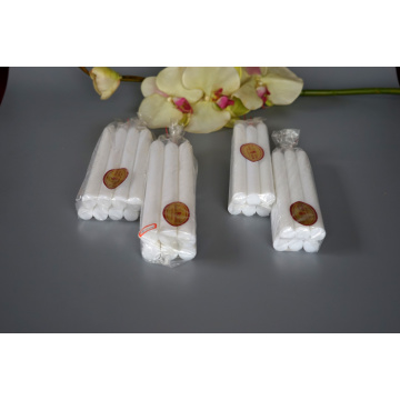 white daily use stick pillar candle