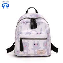 New small fresh satchel print waterproof backpack
