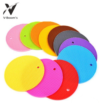 Non-slip Round Shape Silicone Coffee Table Mat
