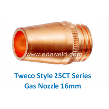 Customized for Gas Cutting Nozzle Tweco 25CT62 Mig Gas Nozzle export to St. Helena Suppliers