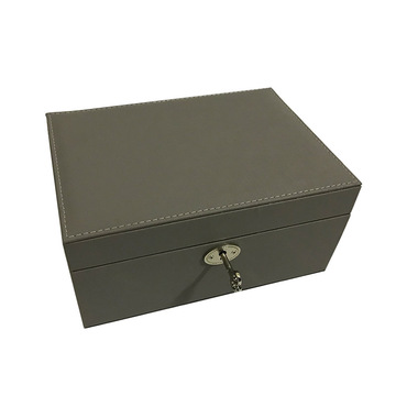 Grey jewellery box with lock
