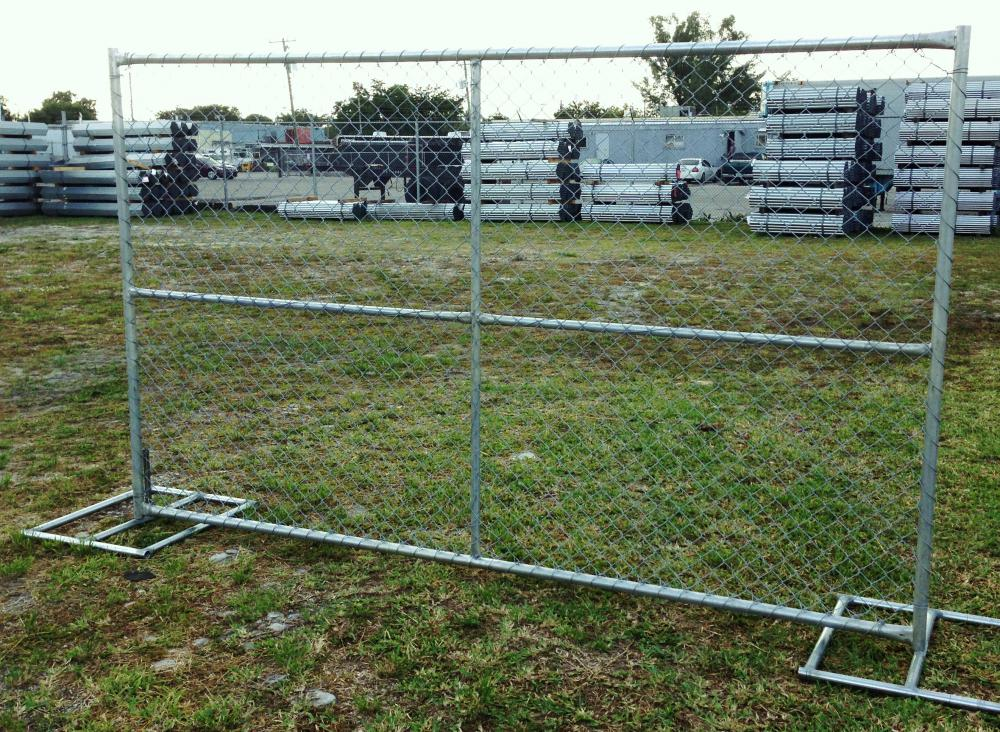 pvc temporary construction chain link fence