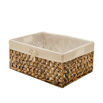 Rectangular Woven Seagrass Storage Bins with Handle