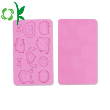 Square Silicone Cartoon Mold for Chocolate