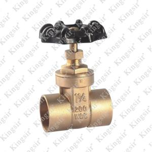 Factory making for Brass Gate Valve BRASS GATE VALVE WITH SOLDER JOINT export to Poland Exporter