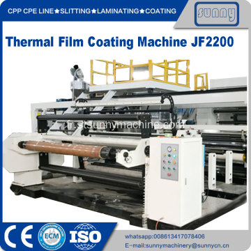 Machine de revêtement par extrusion de film thermique Eva Coated Bopp