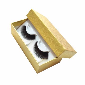 Gold Pattern Clear Window Magtic Eyelash Paper Box