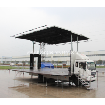 Hydraulic Lifted Opening Roadshow Stage Truck
