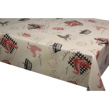 Plastic Tablecloth with Non Woven Backing
