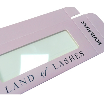 Light Pink PVC Window Previewed Eyelashes Box