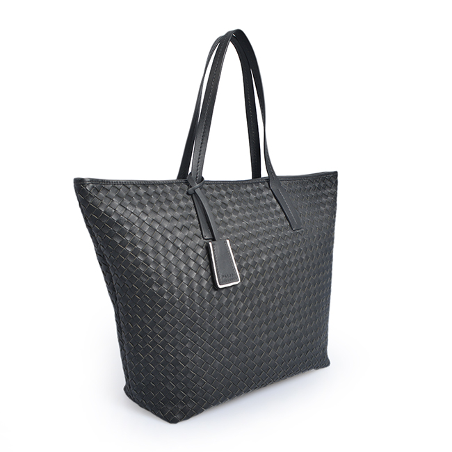 Women Handbag PU Leather Weave Ladies Tote Shoulder bags
