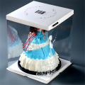 Wholesale Foldable Tall Clear Plastic Cake Box Packaging
