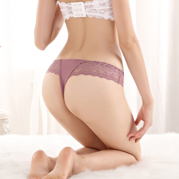 Butterfly full lace girls low waist sexy cotton panties