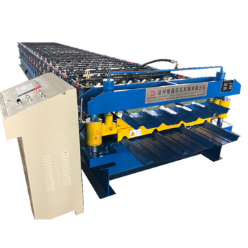 Hydraulic Cutting trapezoidal sheet roll forming machine