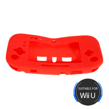 New Fashion Design for Wii U Silicone Case Wii U Gamepad Silicone Jacket - Red export to Honduras Exporter